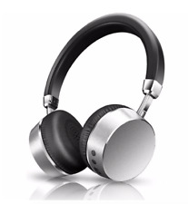 Meidong E6 Metal Wireless Bluetooth Headphones with Microphone Silver HD Stereo