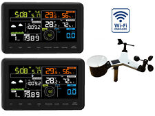 WiFi Internet Funk Wetterstation Froggit WH3000 TWIN (2 Displays) , Wunderground
