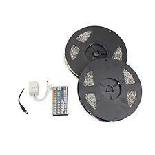 2x 5m 10M 600 5050 SMD LED Lichterkette Leiste RGB Fernbedienung wasserdicht GY