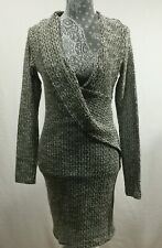 Windsor Body con Dress Juniors Size Large Long sleeves Beige Black Stretch