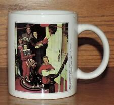 NM NORMAN ROCKWELL MUG 1951 MERRY CHRISTMAS GRANDMA WE CAME IN OUR NEW PLYMOUTH