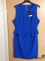BNWT Top shop blue Peplum Dress Size 14