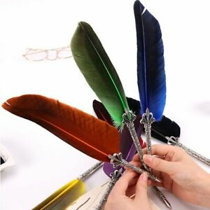 Gift Box Feather Pen Scuba Dive Writing English Calligraphy Vintage Quill