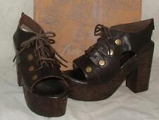 NEW Free People FARRAH CLOG Leather Platform Heel OB482739 size US 9 EU 39