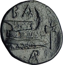 DEMETRIOS I Poliorketes 298BC Authentic Ancient Greek Coin Athena Galley i65107