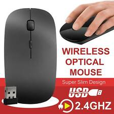 Black 2.4 GHz Wireless Cordless Optical Scroll USB Mouse For PC Laptop UK