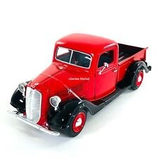 1937 Ford Pickup Truck Red 1:24 Diecast Vehicle Motormax 73233