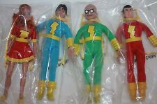 SHAZAM RETRO  SET OF 4; 8 INCH  FIGURES ; MANUFACTURER POLYBAG  NEW