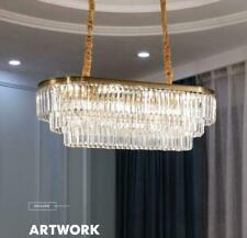 Restaurant Oval Lighting Crystal Ceiling Pendant Lamp King Size Light Chandelier