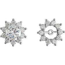 Diamond Earring Jackets In 14K White Gold (3/4 ct. tw