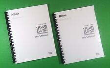 LASER PRINTED Nikon D3 Camera 480 Page Owners Manual Guide