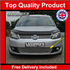 VW CADDY 10-15 FRONT GRILLE SILVER STAINLESS STEEL MESH ZUNSPORT GRILL LOWER VAN