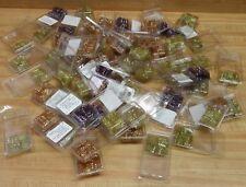 Lot 64 Clam Shells Diamonettes Plastic Crystal Rhinestone Beads Jewelry Crafts