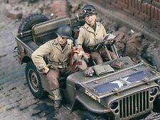 "Verlinden 1/35 ""Jeep Riders"" US GIs seated Willys MB Jeep WWII (2 Figures) 1731"