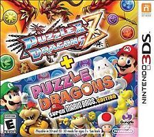 Puzzle & Dragons Z + Puzzle & Dragons -- Super Mario Bros. Edition (Nintendo 3DS, 2015)