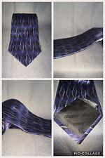 Men's Silk Tie Murano Blue And Black Geometric T02