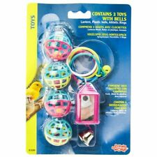 LM Living World Bird Toys with Bells  3 Pack