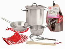 Kaper Kidz Children's Small Stainless Steel Cooking Cook Play Toy Set! 13pcs!