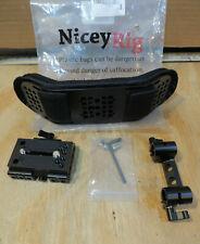 NICEYRIG Steady Shoulder Pad with QR Plate 15mm Rod Clamp for DSLR Shoulder Rig