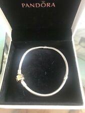 Genuine Pandora Silver and Gold Bracelet 590702HG 19CM