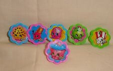 Shopkins,Cupcake Party Rings,Toppers,DecoPac,Multi-Color,Plastic,12 Count.
