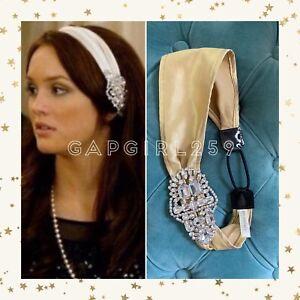 Jennifer Behr Champagne Crystal Headwrap Headband ASO Blair Waldorf Gossip Girl