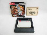 MSX COMPUTER CHESS Item REF/1486 Msx Cartridge Sony Video Game Japan msx