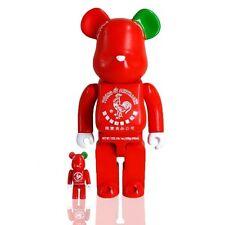 BAIT x Medicom x Sriracha Sketracha 100% 400% Bearbrick Figure Set red