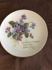 "Lasting Memories ""Grandmother's Love"" Genuine Porcelain Collector Plate"
