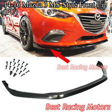 MS Style Front Bumper Lip (Urethane) Fits 14-16 Mazda 3