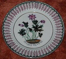 "Oriental Accent  Plate - Purple Flower w/Border - 10"" plate"