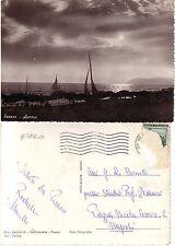 CARTOLINA RARA -  PESARO - AURORA , barche a vela, tramonto (4)