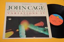 JOHN CAGE LP VARIATIONS VOLUME 1°ST ORIG USA '70 EX CONTEMPORARY AVANTGARD