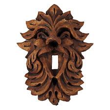Laughing Leafman Light Switchplate - Celtic Green man Forest God Dryad Design