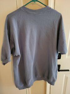 Vintage Lee Short Sleeve Sweatshirt Cotton Blend Navy Blue XL Extra Large USA