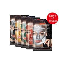 [PUREDERM] Galaxy Peel-Off Mask 10g*5ea (each 1 of all types)