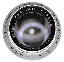 Kodak Commercial Ektar 8.5in f6.3 Barrel Lens  #ET351