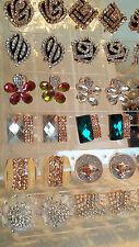 Joblot De 18 Pares Mixtas Diseño Diamante Aretes-nuevo al por mayor Lote D