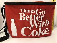 """Things Go Better With Coke Coca-Cola 12 Can Cooler 11""""x9""""x6"""""""