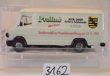 Praliné 1/87 Nr. 4389 Mercedes Benz 507 D Kasten Sondermodell M.F.B. OVP #3162