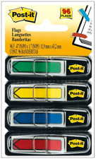 96 Ct Post It Arrow Flags 4 Dispensers 24 Flags Per Bright Color Sticky Notes