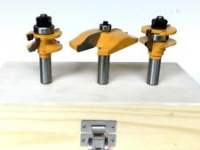 3pc  Ogee Raised Panel & Ogee Rail and Stile Cabinet Door Router Bit Set S