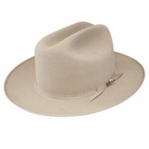 STETSON OPEN ROAD SILVERBELLY ROYAL DELUXE FUR FELT DRESS HAT