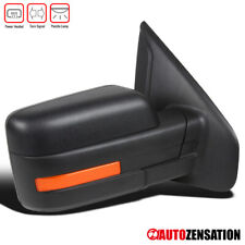 For Ford 2007-2014 F150 Black Power Heat Right Passenger Side Mirror+LED Signal