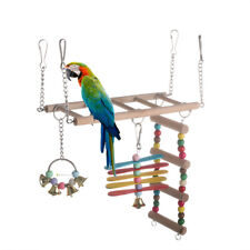 Hamster Bird Cage Parrot Climb Toys Pet Wood Swings Bridge Ladder Perches Stand