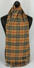 BURBERRY SCARF 100% LAMBSWOOL FOR MEN AND WOMEN MADE IN ENGLAND BEIGE #21