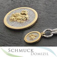 Quoins - Scheibe / Münze mit Zirkonias - QMOA-28L-GO - Buddha