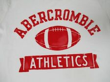 ABERCROMBIE & FITCH FOOTBALL - FELT LETTERING - SMALL WHITE T-SHIRT - S1970