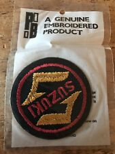 Rare Vintage New Old Stock Woven PATCH Suzuki Motorcycle Biker Rockers