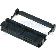 2 Connettore IDC femmina 30 poli dritto per cavo piatto ribbon